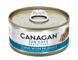 *Canagan 貓用無穀物吞拿魚+青口配方罐頭 75g x 12罐送$20現金券