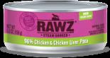 RAWZ 96% RZCT156 雞肉及雞肝肉醬全貓罐頭 156g