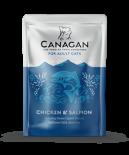 Canagan 原之選 鮮肉主食滋味包 成貓-雞肉+三文魚 85g x 8包原箱優惠