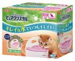 GEX FP92316 - 半月形掛籠用 貓飲水機 900ml (粉紅色)