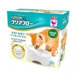 GEX 循環式碗型貓飲水機-950ml ( 紫+白 / 粉紅+白 )