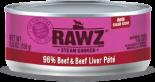 RAWZ 96% RZCB156 牛肉及牛肝肉醬全貓罐頭 156g