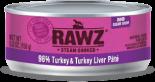 RAWZ 96% RZCT156 火雞肉及火雞肝肉醬全貓罐頭 156g