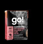 Go! Solutions 1266027 活力營養系列 無穀物三文魚+鱈魚肉醬 貓濕糧 6.4oz (淺粉紅) (盒裝)