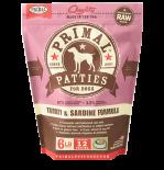 PRIMAL - Canine Frozen Formula **急凍**鮮肉狗配方 - 火雞沙甸魚 6 lb