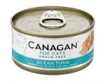*Canagan 貓用無穀物海洋吞拿魚配方罐頭 75g x 12罐送$20現金券