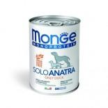 Monge 單一肉類蛋白-鴨肉 狗罐頭 400g