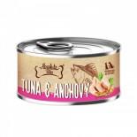 Absolute Bites [AB2616] 吞拿魚+鯷魚 無穀物 罐頭 80g x 24罐原箱優惠