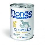 Monge 單一肉類蛋白-雞肉 狗罐頭 400g