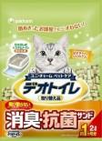 日本 Unicharm 消臭大師 滲透式綠茶紙貓砂 2L