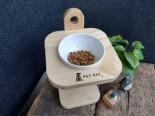 Pet Bay - 100%台灣製 貓咪三段式調節原木碗架 (單碗)