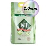 N1 Naturel 玉米豆腐貓砂 (綠茶味) *2.0幼條*   17.5L x 12包優惠