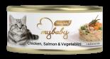 Be My Baby 濕貓糧 [A07] Chicken & Salmon & Vegetables 雞肉+三文魚+蔬菜 85g