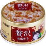 INABA 贅沢 D-161 雞肉+松阪牛 狗罐頭 80g