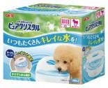 GEX FP92315 - 半月形掛籠用 狗飲水機 900ml (粉藍色)
