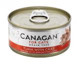 *Canagan 貓用無穀物吞拿魚+蟹肉配方罐頭 75g x 12罐送$20現金券