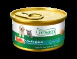 Petssion 汁煮三文魚滑雞塊 貓罐頭 85gx 24罐同款原箱優惠
