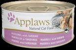 Applaws 愛普士 - 貓罐頭 156g - 沙甸魚+鯖魚 x 24罐原箱優惠
