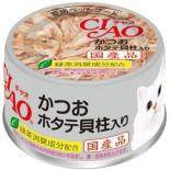 CIAO A84 鰹魚+帶子 貓罐頭 80g x 24罐原箱優惠