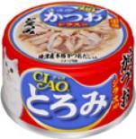 CIAO A45 帶子濃湯 雞肉+鰹魚+白飯魚 貓罐頭 80g x 24罐原箱優惠