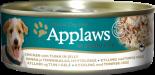 Applaws 狗罐頭 天然Jelly系列 156G 雞肉+吞拿魚 x 12罐原箱優惠