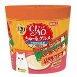 CIAO SC-213「超奴」美食 雞肉海鮮綜合 3種味 (120本 / 桶裝)