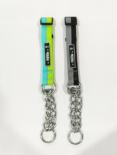 Reveur 金熊貓 - 尼龍三角鏈頸圈 藍+綠(15mm*26-40cm) [NL-18041503C]