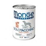 Monge 單一肉類蛋白-火雞肉 狗罐頭 400g