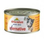 Almo Nature Alternative罐裝貓罐頭 70g 雞肉