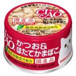 CIAO A13 鰹魚+瑤柱棒 貓罐頭 80g x 24罐原箱優惠
