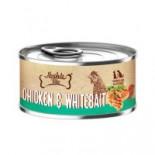 Absolute Bites [AB2555] 風味雞+銀魚(Whitebait) 無穀物 貓狗主食罐 80g x 24罐原箱優惠