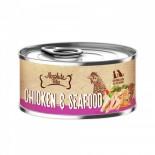 Absolute Bites [AB2562] 風味雞+海鮮(Seafood) 無穀物 貓狗主食罐 80g x 24罐原箱優惠