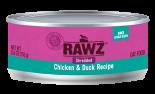 RAWZ 96% RZCCD155 雞肉及鴨肉肉絲全貓罐頭 155g x 24 罐原箱優惠