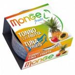 Monge 生果系列 貓罐頭 80g - 吞拿魚+雜果