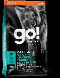 GO! SOLUTIONS 1303012 活力營養系列 無穀物雞肉+火雞+鴨肉 成年 狗糧配方 12 lb