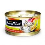 Fussie Cat 吞拿魚+三文魚貓罐頭 80g