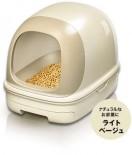 日本花王 - 抗菌除臭雙層*有蓋*貓砂盆 + 木屑砂 + 吸墊 套裝 (象牙色)