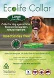 Solano - Ecolife Collar 純天然犬用驅蚤頸帶 (20kg以上) (粉紅色 / 藍色)