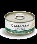 Canagan 貓用無穀物雞肉+大鱸魚配方罐頭 75g x 96罐原箱同款優惠