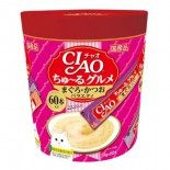 CIAO SC-222「超奴」美食 吞拿+鰹魚PARTY  3種味 (60本 / 桶裝)