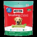 Milk Bone Brushing Chews 清潔牙齒骨 大型犬 (50磅以上/ 18支)