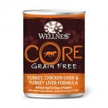 Wellness CORE 7940 - 火雞、雞肝及火雞肝﹙無穀物﹚ 狗罐頭 12.5oz