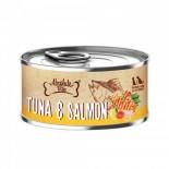 Absolute Bites [AB2593] 吞拿魚+三文魚+煙燻白鰹魚 無穀物 罐頭 80g x 24罐原箱優惠