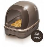 日本花王 - 抗菌除臭雙層*有蓋*貓砂盆 + 木屑砂 + 吸墊 套裝 (朱古力色)