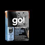 Go! Solutions 1266022 低敏美毛系列 無穀物鱈魚肉醬(Pollock) 貓濕糧 6.4oz (盒裝)