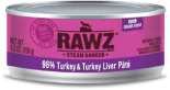RAWZ 96% RZCT156 火雞肉及火雞肝肉醬全貓罐頭 156g x 24 罐原箱優惠