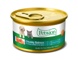 **試食優惠** Petssion 汁煮三文魚滑雞塊 貓罐頭 85g