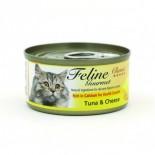 Feline Gourmet FG70-1 化毛球 吞拿魚+芝士 80g x 24罐原箱優惠