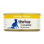 THRIVE 整全膳食100% 雞肉貓罐頭 75G x 12罐原條優惠