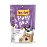 Friskies 喜躍 Party Mix 鬆脆貓小食袋裝白鮭魚,三文魚及蟹 170g